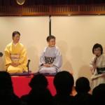 左から織音さん、菊千代さんと司会の斎藤
